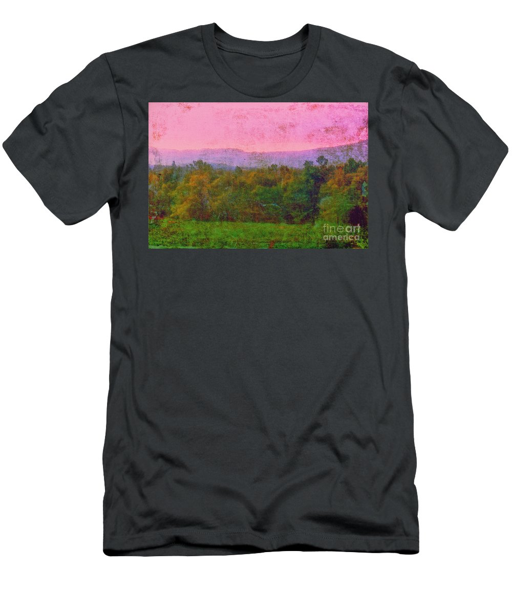 Mountains Men's T-Shirt (Athletic Fit) featuring the photograph Morning In The Mountains by Judi Bagwell