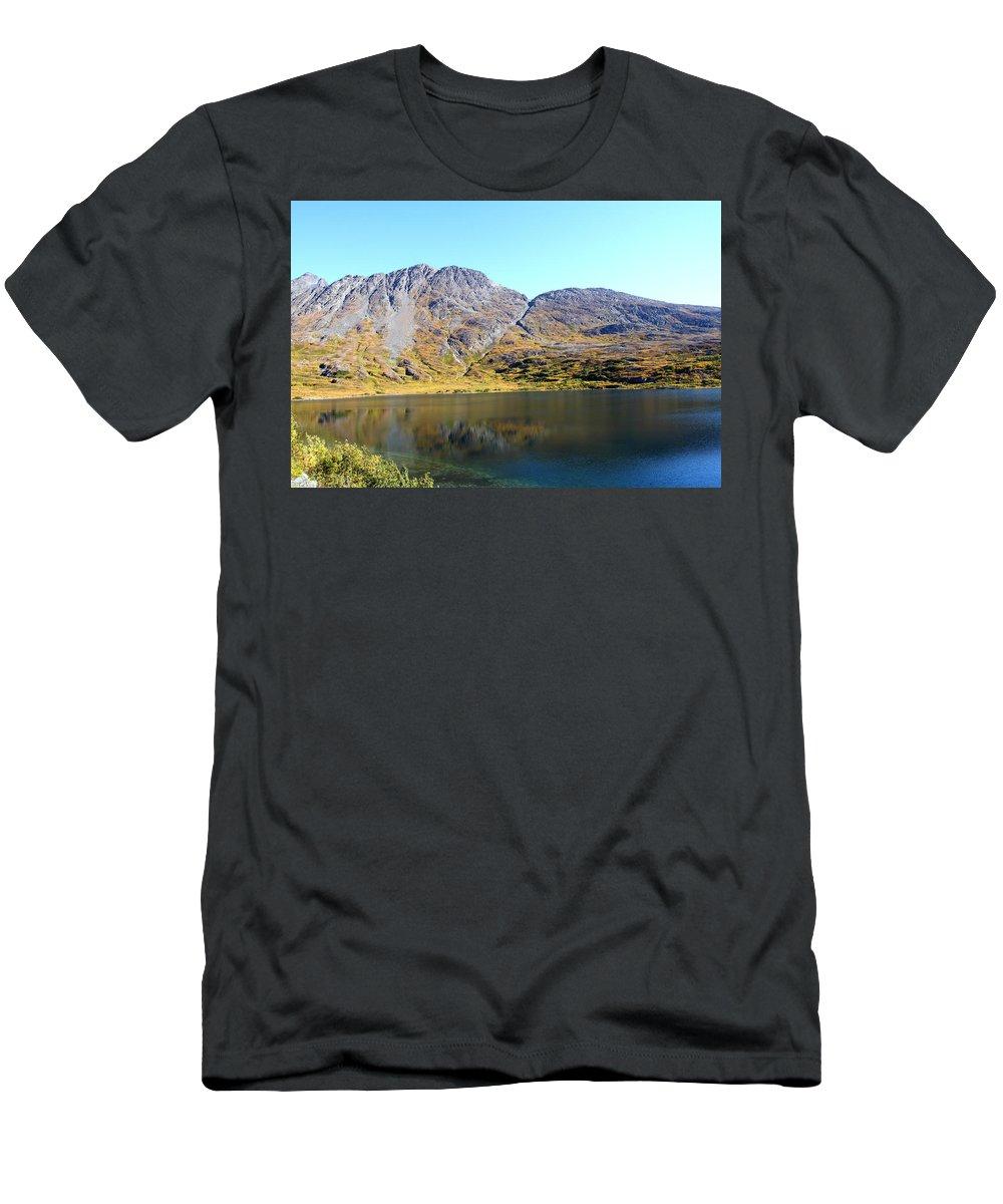 Doug Lloyd Men's T-Shirt (Athletic Fit) featuring the photograph Mountain Lake by Doug Lloyd