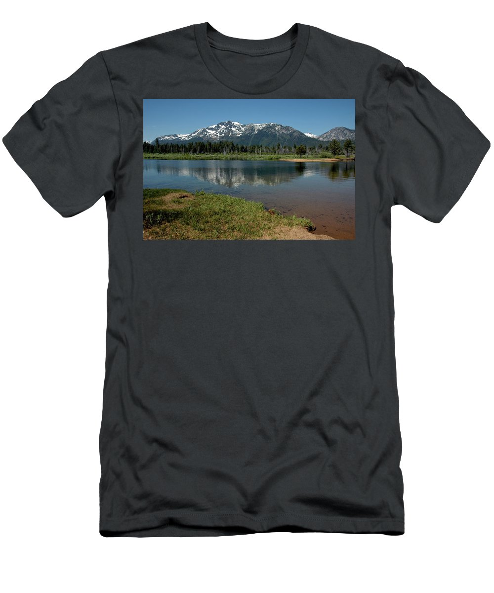Usa Men's T-Shirt (Athletic Fit) featuring the photograph Mountain Tallac Dive In by LeeAnn McLaneGoetz McLaneGoetzStudioLLCcom