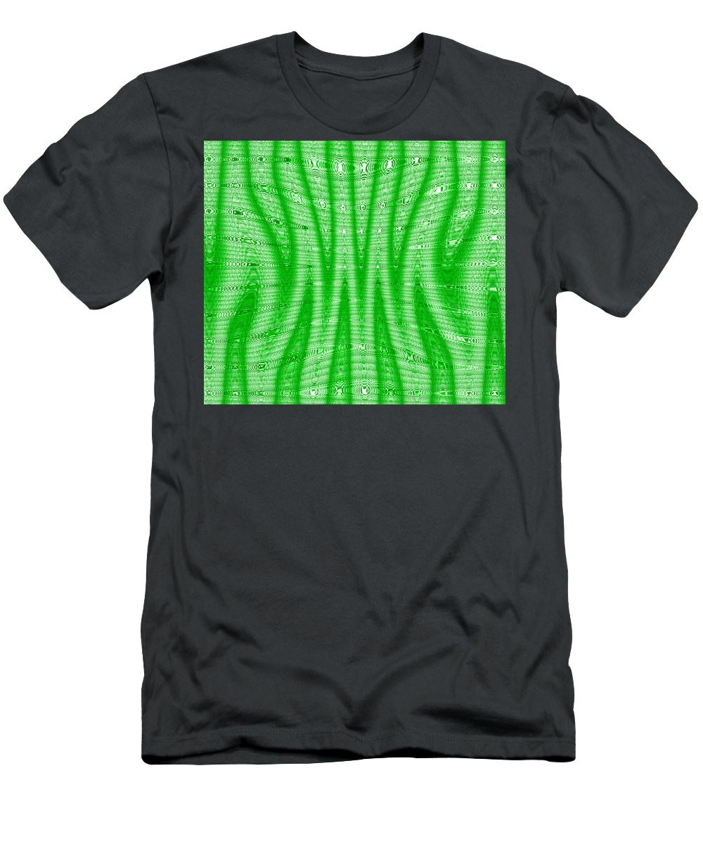 Moveonart! Global Gathering.-- Digital Abstract Art By Artist Jacob Kane -- Omnetra Men's T-Shirt (Athletic Fit) featuring the digital art Moveonart Greensqueeze by Jacob Kanduch