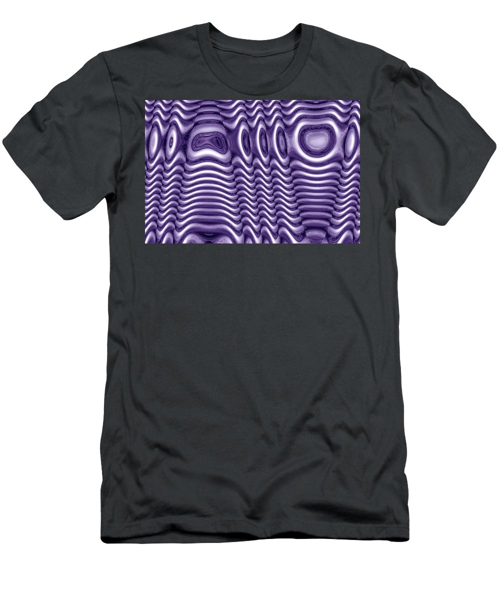 spacedecor Digital Abstract Art By Artist Jacob Kane Kanduch -- Moveonart! Men's T-Shirt (Athletic Fit) featuring the digital art Moveonart Spacedecor by Jacob Kanduch