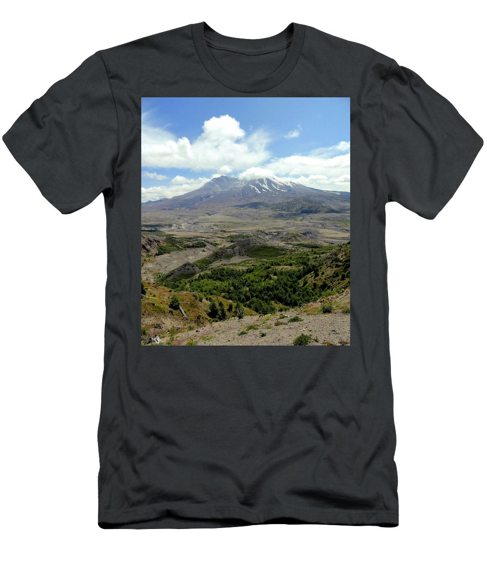 Photos Of Mt St Helens Photographs Photographs Men's T-Shirt (Athletic Fit) featuring the photograph Mt St Helens 3 by Christy Leigh