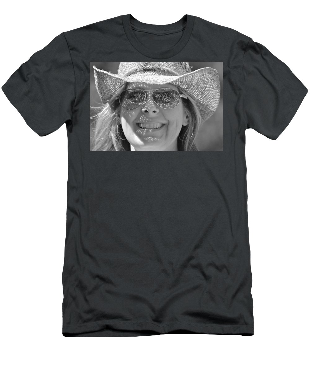 Music Festival Men's T-Shirt (Athletic Fit) featuring the photograph Music Festival Fan by Eric Tressler