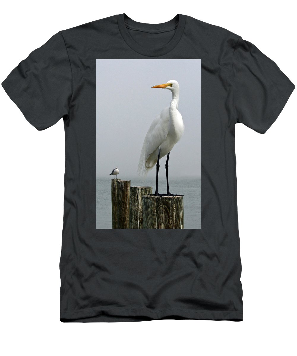Buddy Men's T-Shirt (Athletic Fit) featuring the photograph My Little Buddy by Rebecca Samler