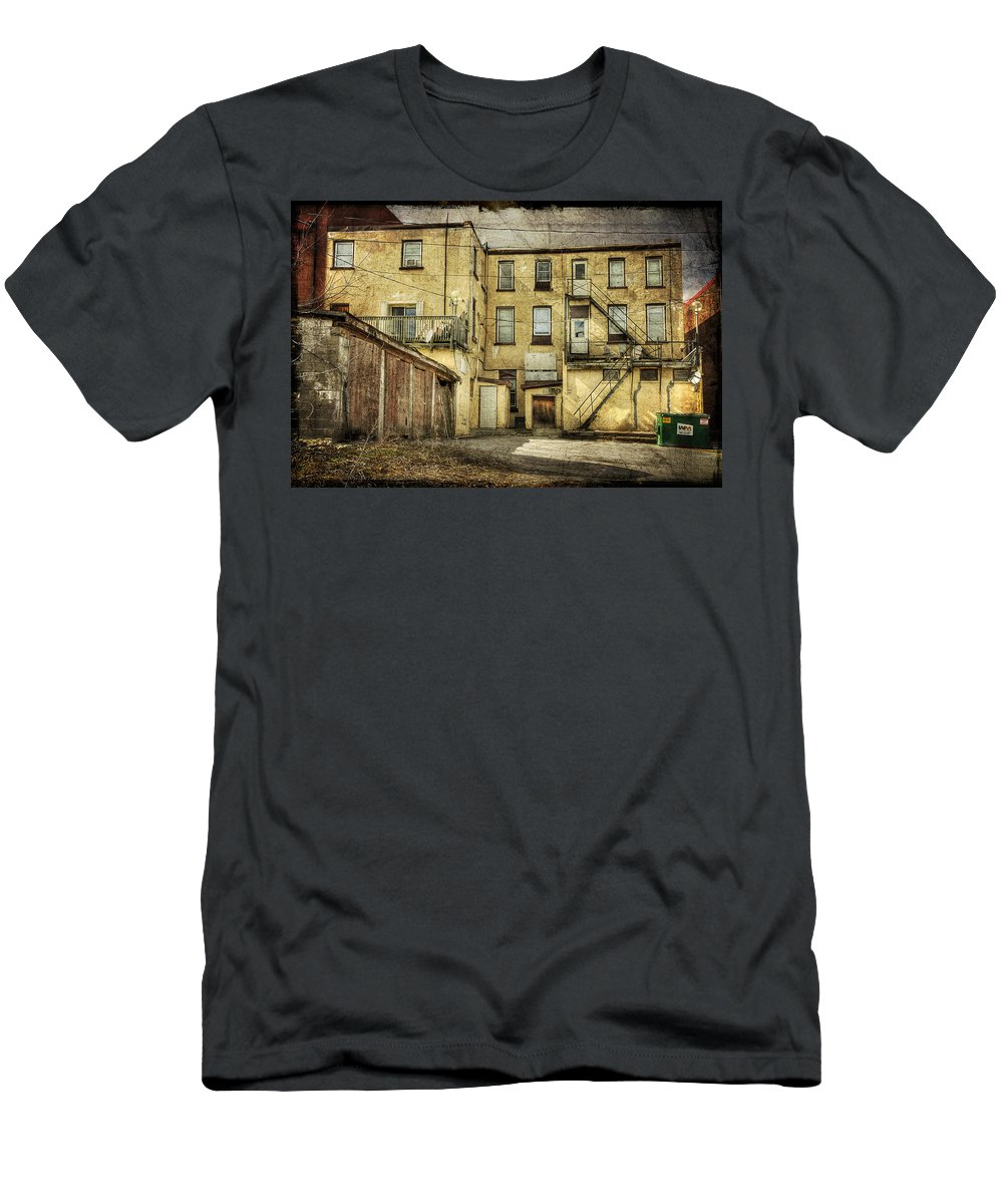 Acrylic Prints Men's T-Shirt (Athletic Fit) featuring the photograph Napanee High Rise by John Herzog