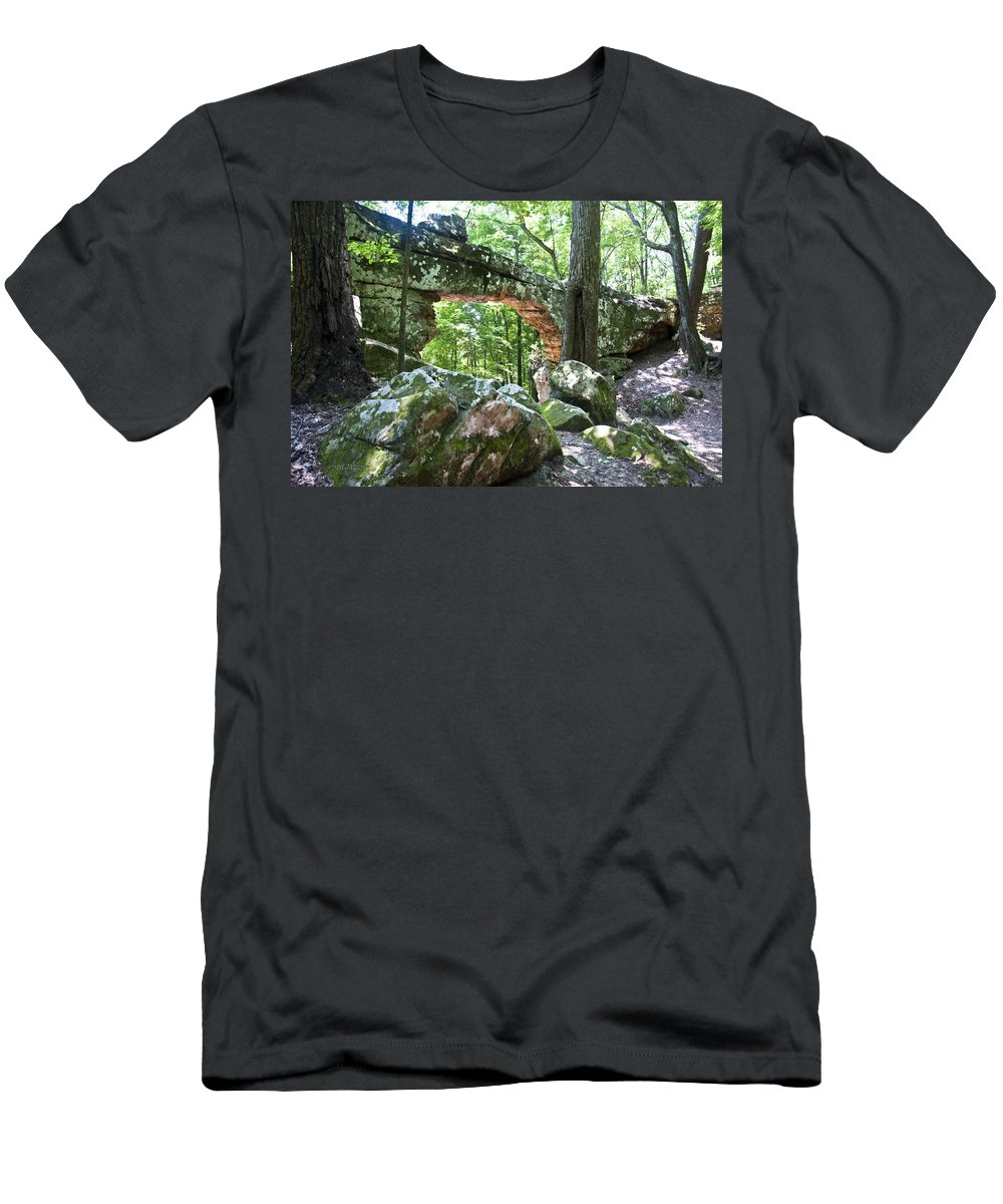 Natural Bridge Men's T-Shirt (Athletic Fit) featuring the photograph Natural Bridge by Terry Anderson