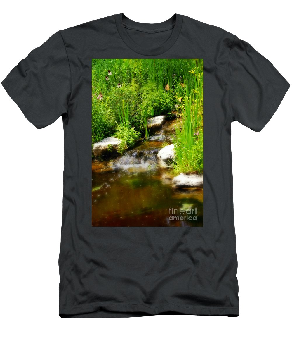 Landscape Men's T-Shirt (Athletic Fit) featuring the photograph Natural Spring by Peggy Franz