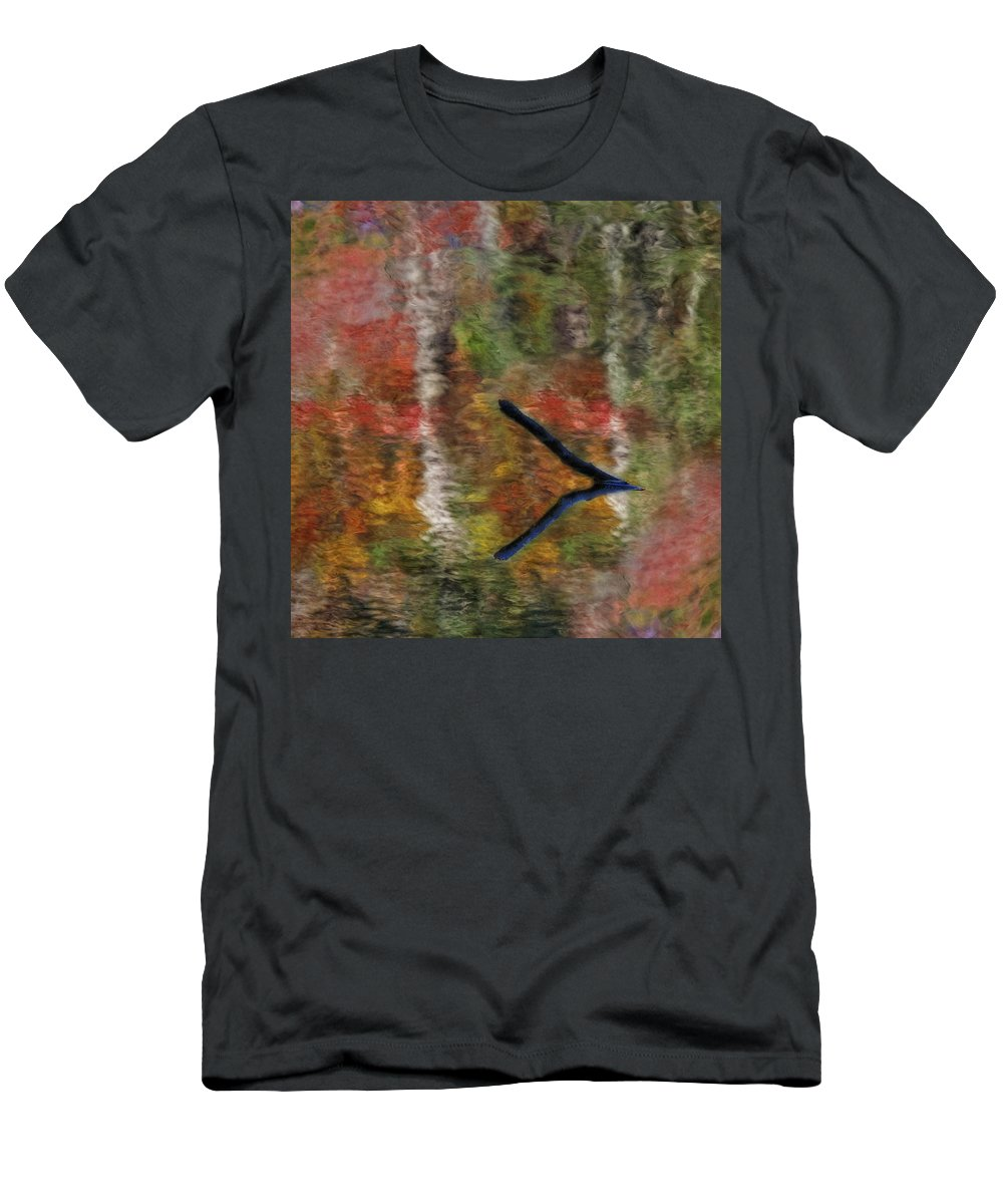 Petals Men's T-Shirt (Athletic Fit) featuring the photograph Nature's Reflections by Susan Candelario