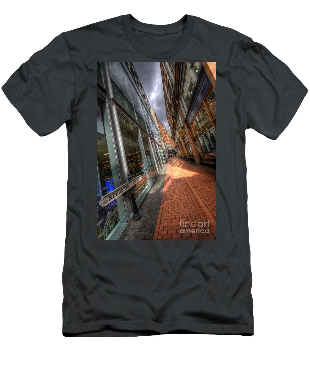 Street Men's T-Shirt (Athletic Fit) featuring the photograph Needless Alley by Yhun Suarez