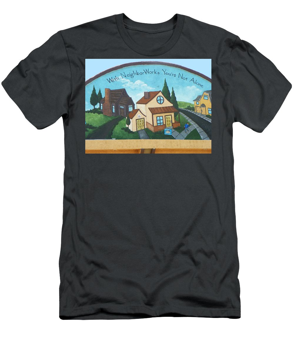 Expressive Men's T-Shirt (Athletic Fit) featuring the photograph Neighborworks by Lenore Senior