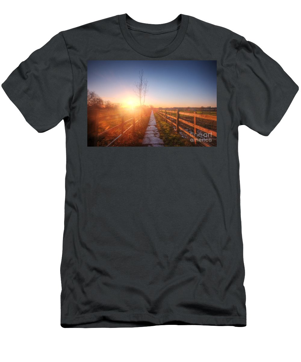 Landscape Men's T-Shirt (Athletic Fit) featuring the photograph New Beginning by Yhun Suarez