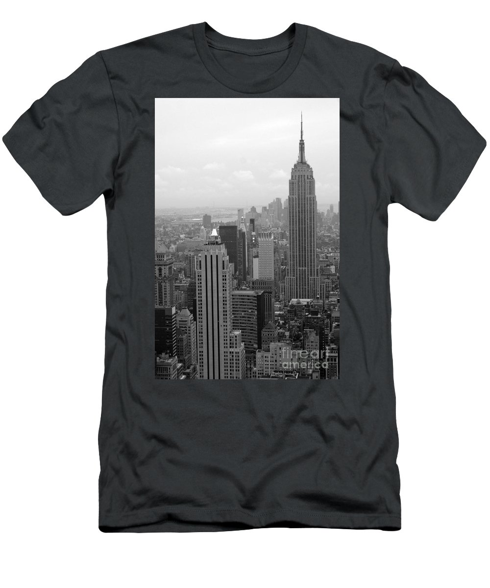 New York City Men's T-Shirt (Athletic Fit) featuring the photograph New York by Living Color Photography Lorraine Lynch