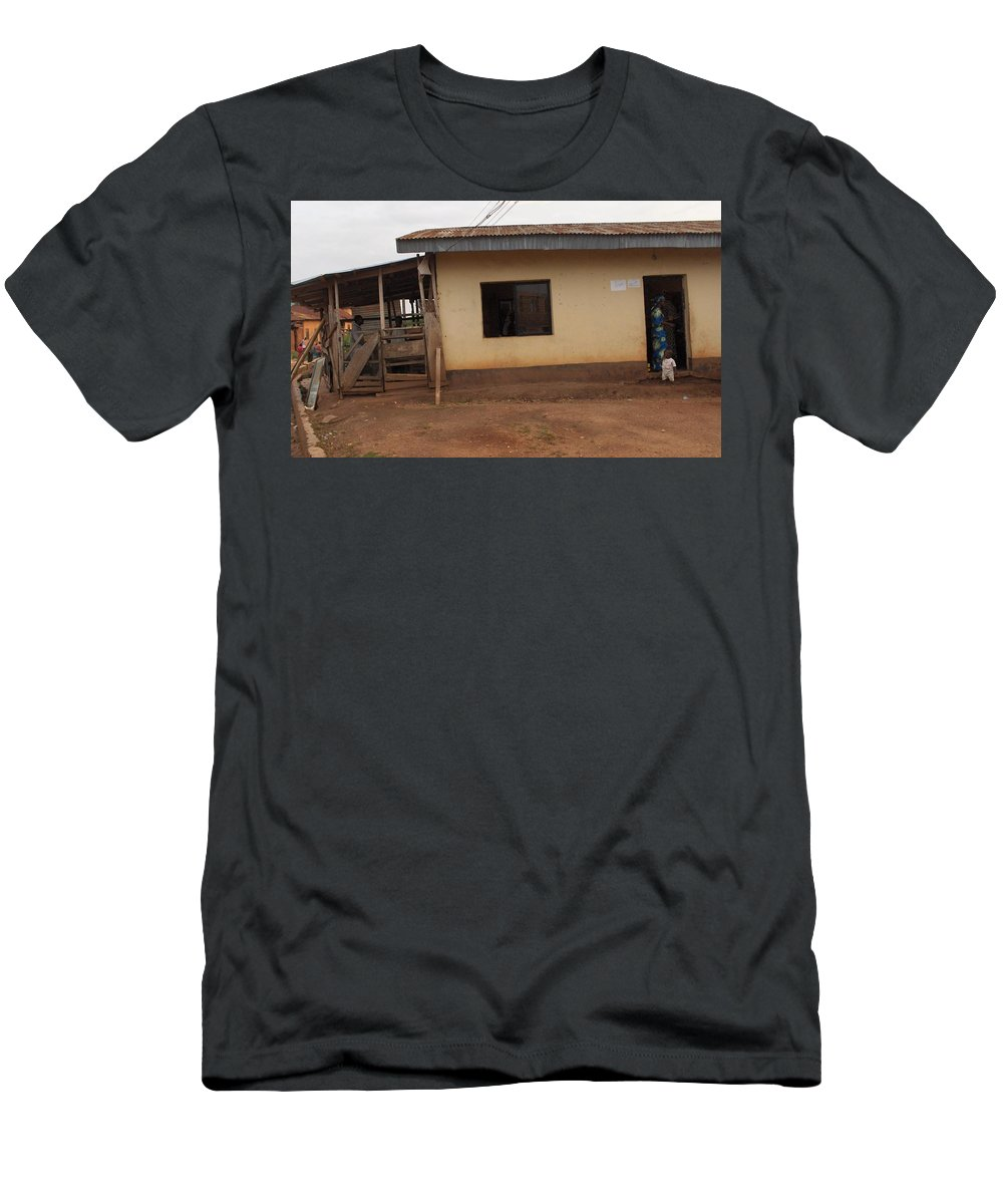 Church Men's T-Shirt (Athletic Fit) featuring the photograph Nigerian Church by Amy Hosp