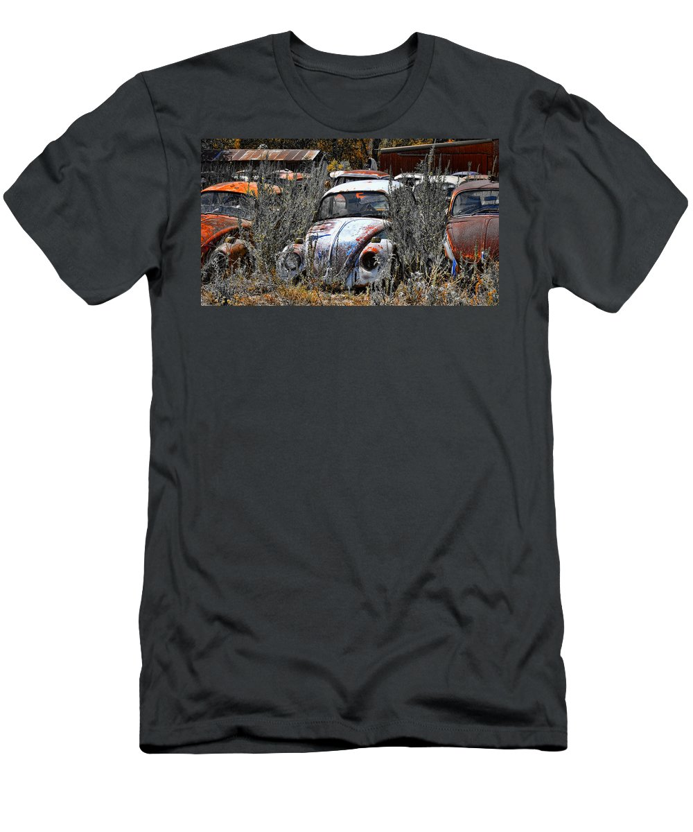 Bugs Men's T-Shirt (Athletic Fit) featuring the photograph Not Herbie The Love Bug by Douglas Barnard