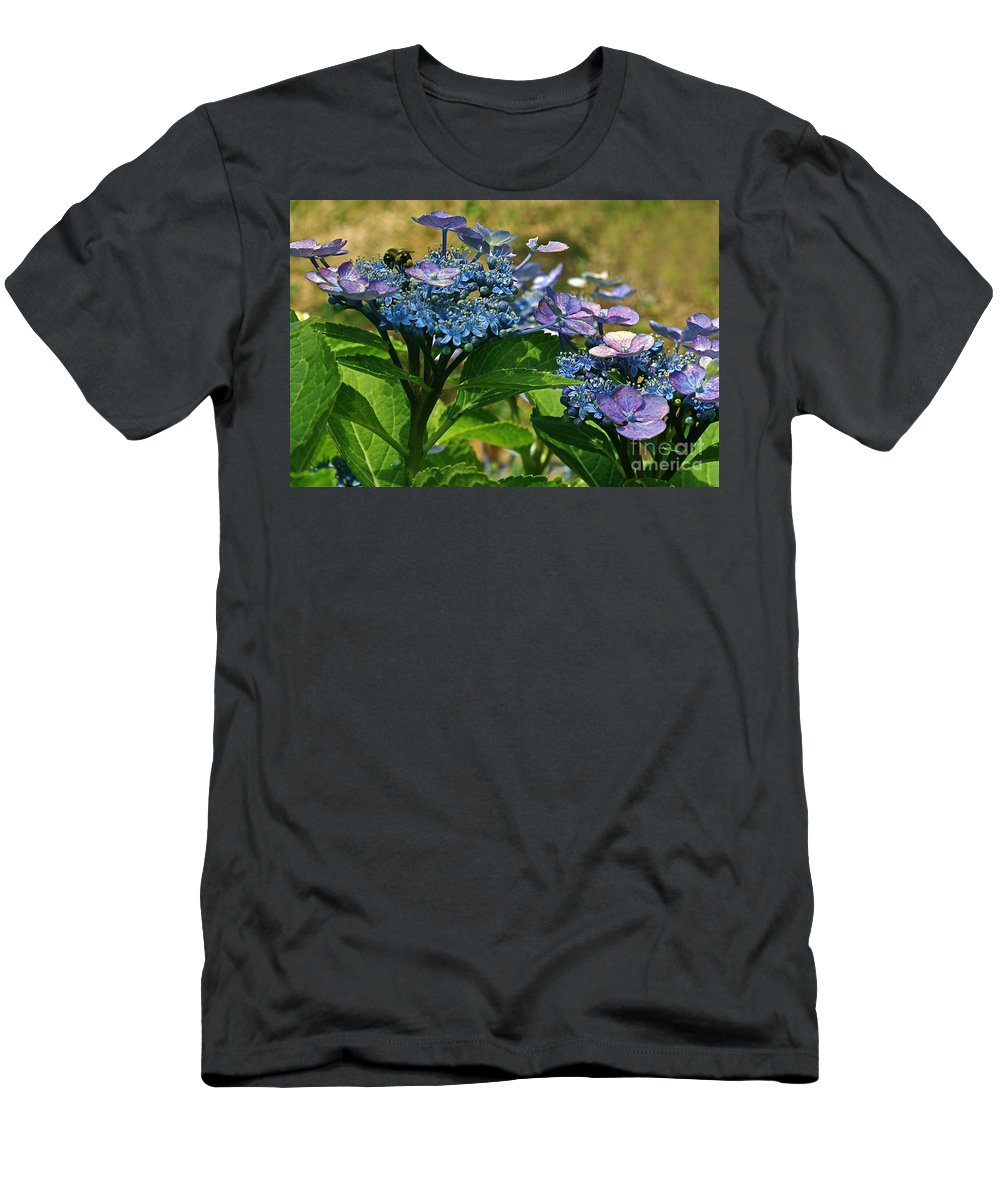 Oasis Men's T-Shirt (Athletic Fit) featuring the photograph Oasis by Byron Varvarigos
