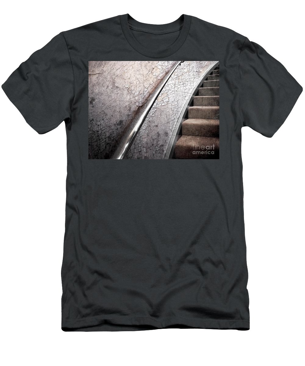 Textures Men's T-Shirt (Athletic Fit) featuring the photograph Old And New by Ellen Cotton