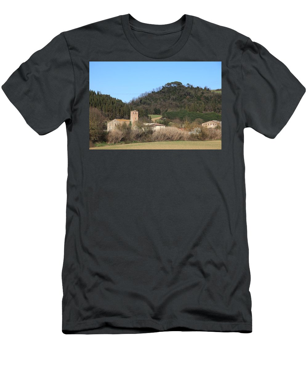 Church Men's T-Shirt (Athletic Fit) featuring the photograph Old Church Near Montelupo by Francesco Scali