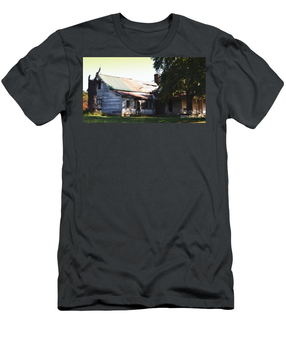Old House Men's T-Shirt (Athletic Fit) featuring the photograph Old House by Lydia Holly