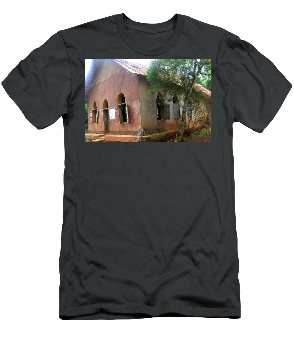 Nigeria Men's T-Shirt (Athletic Fit) featuring the photograph Old Nigerian Church by Amy Hosp