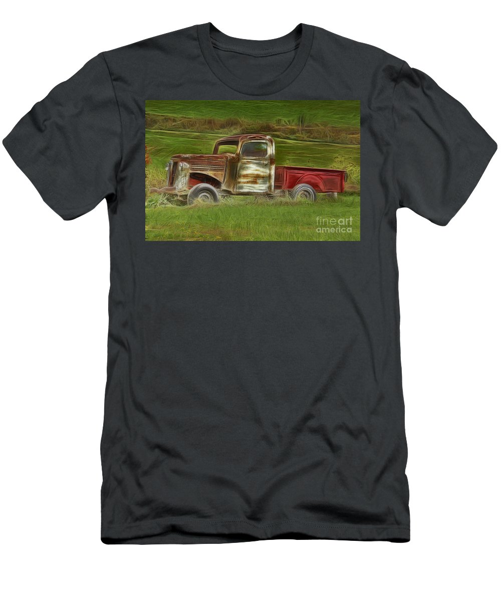 Old Truck Men's T-Shirt (Athletic Fit) featuring the photograph Oldie But Goodie by Deborah Benoit