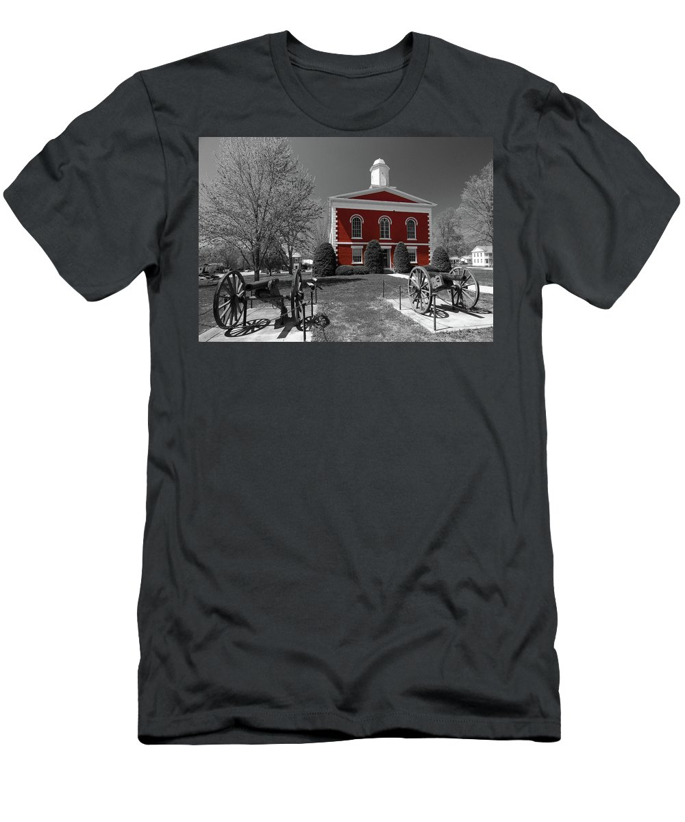 Ozarks Men's T-Shirt (Athletic Fit) featuring the photograph Order In The Court by Steve Stuller