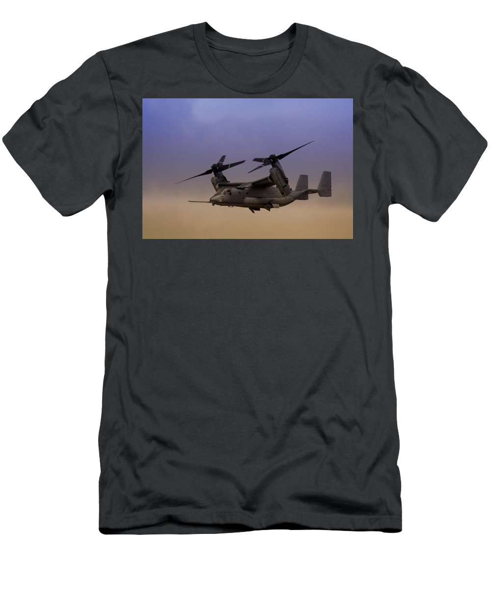 Advanced Men's T-Shirt (Athletic Fit) featuring the photograph Osprey In Flight I by Ricky Barnard