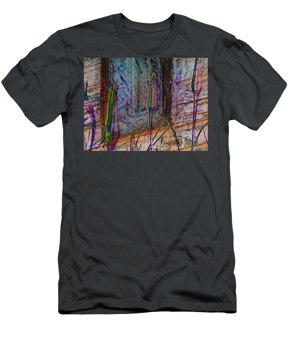 Abstract Men's T-Shirt (Athletic Fit) featuring the photograph Overgrown by Lenore Senior