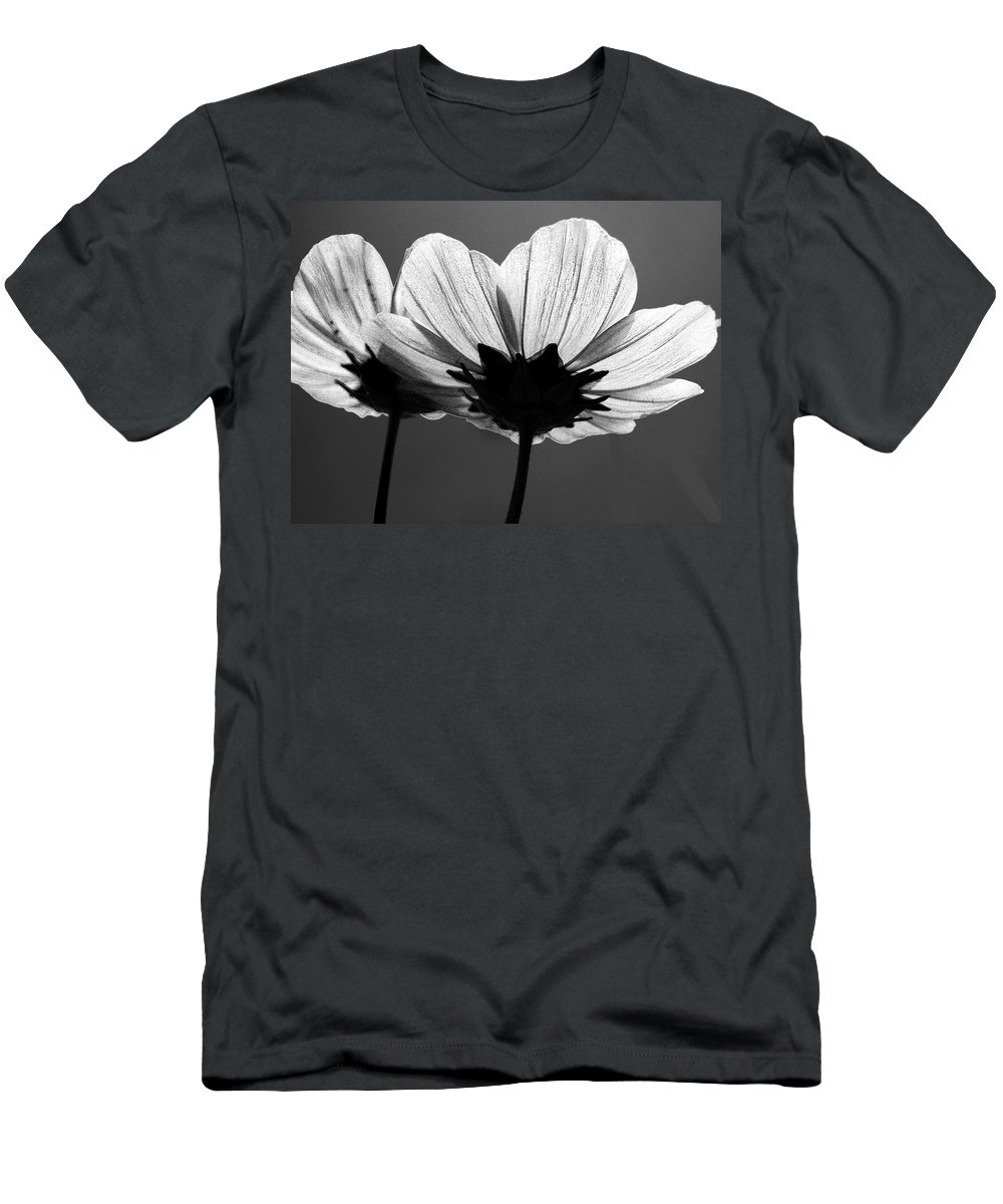 Cosmia Flower Men's T-Shirt (Athletic Fit) featuring the photograph Pair Of Cosmia Flower by Sumit Mehndiratta