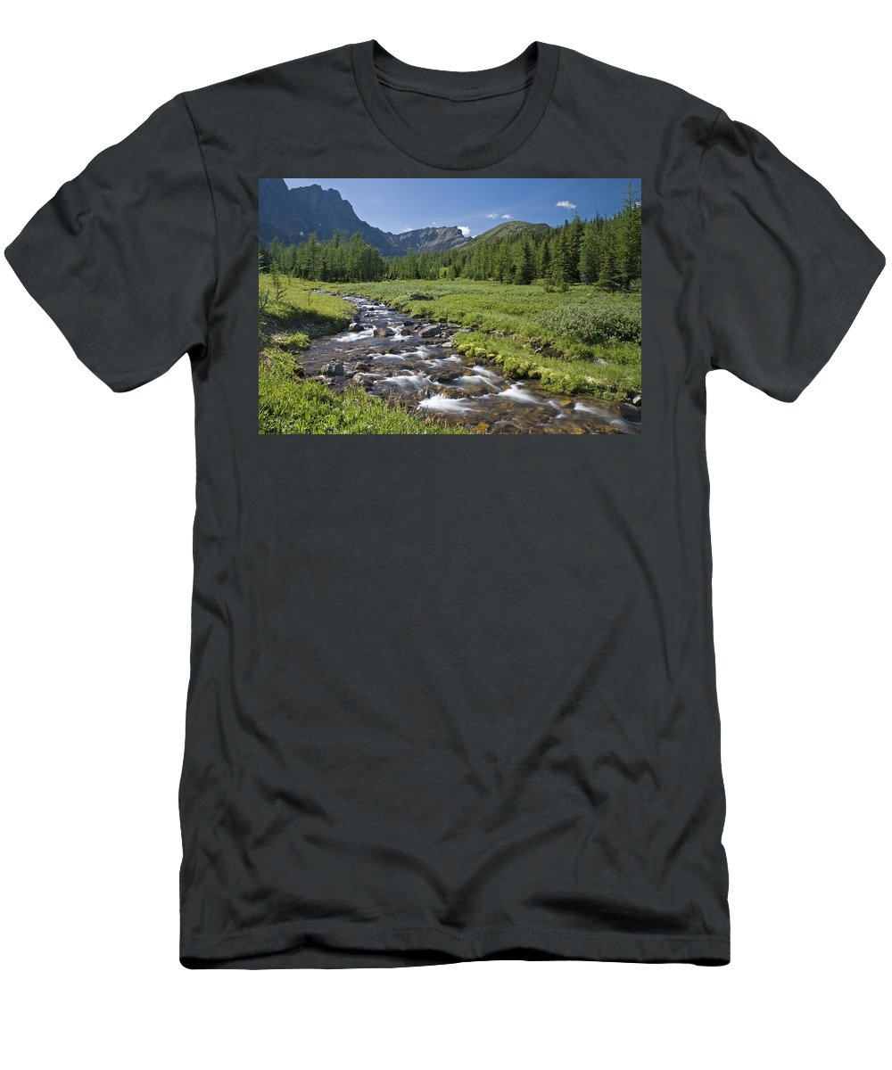 Banff Men's T-Shirt (Athletic Fit) featuring the photograph Panorama Ridge, Banff National Park by Philippe Widling