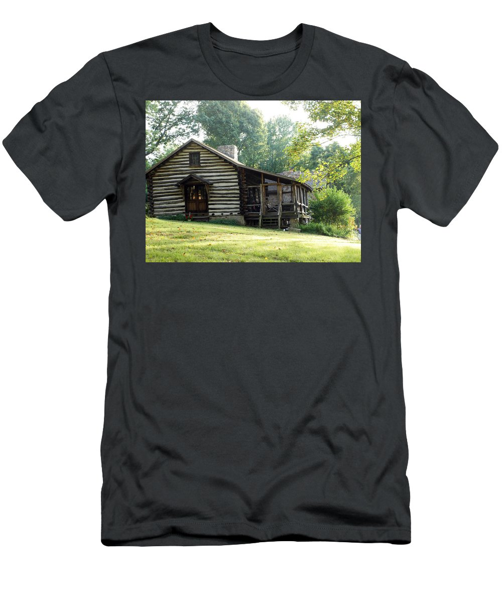 Farm Animals Men's T-Shirt (Athletic Fit) featuring the photograph papa Tom's cabin by Robert Margetts