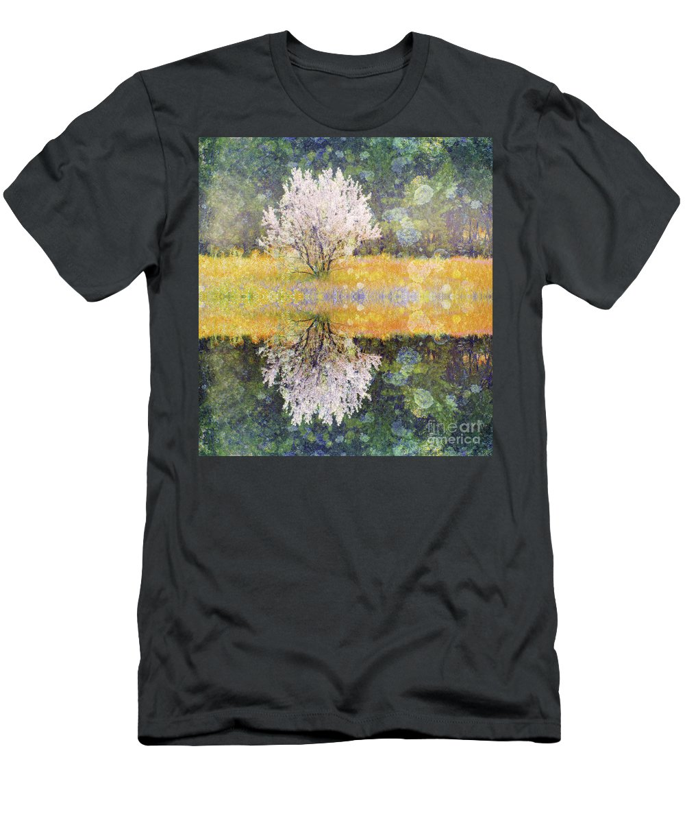 Texture Men's T-Shirt (Athletic Fit) featuring the digital art Pastel Memories by Tara Turner