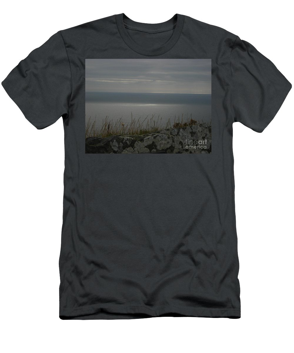 Ocean Men's T-Shirt (Athletic Fit) featuring the photograph Patch Of Sun by Bonnie Myszka