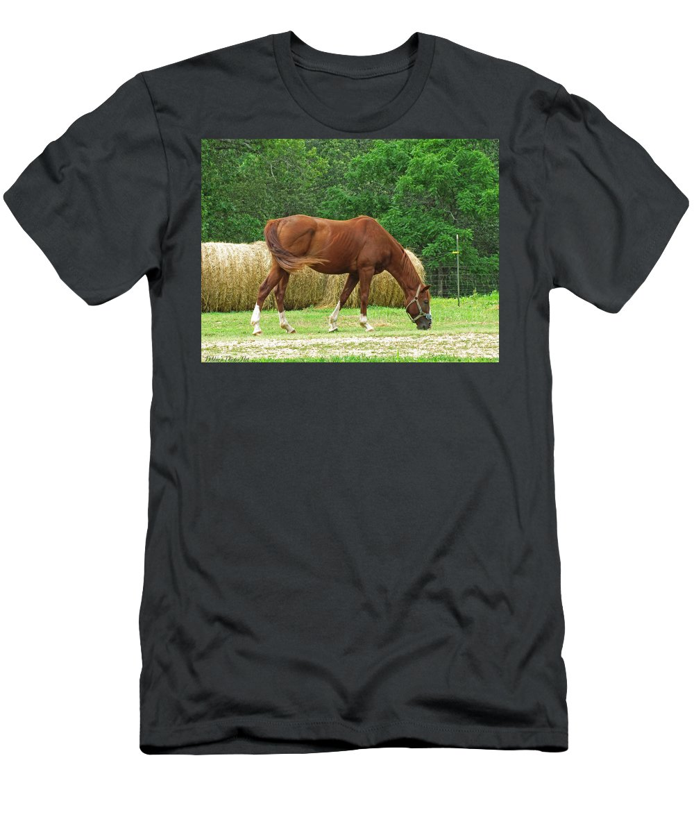 Men's T-Shirt (Athletic Fit) featuring the photograph Peacefully Grazing by Debbie Portwood