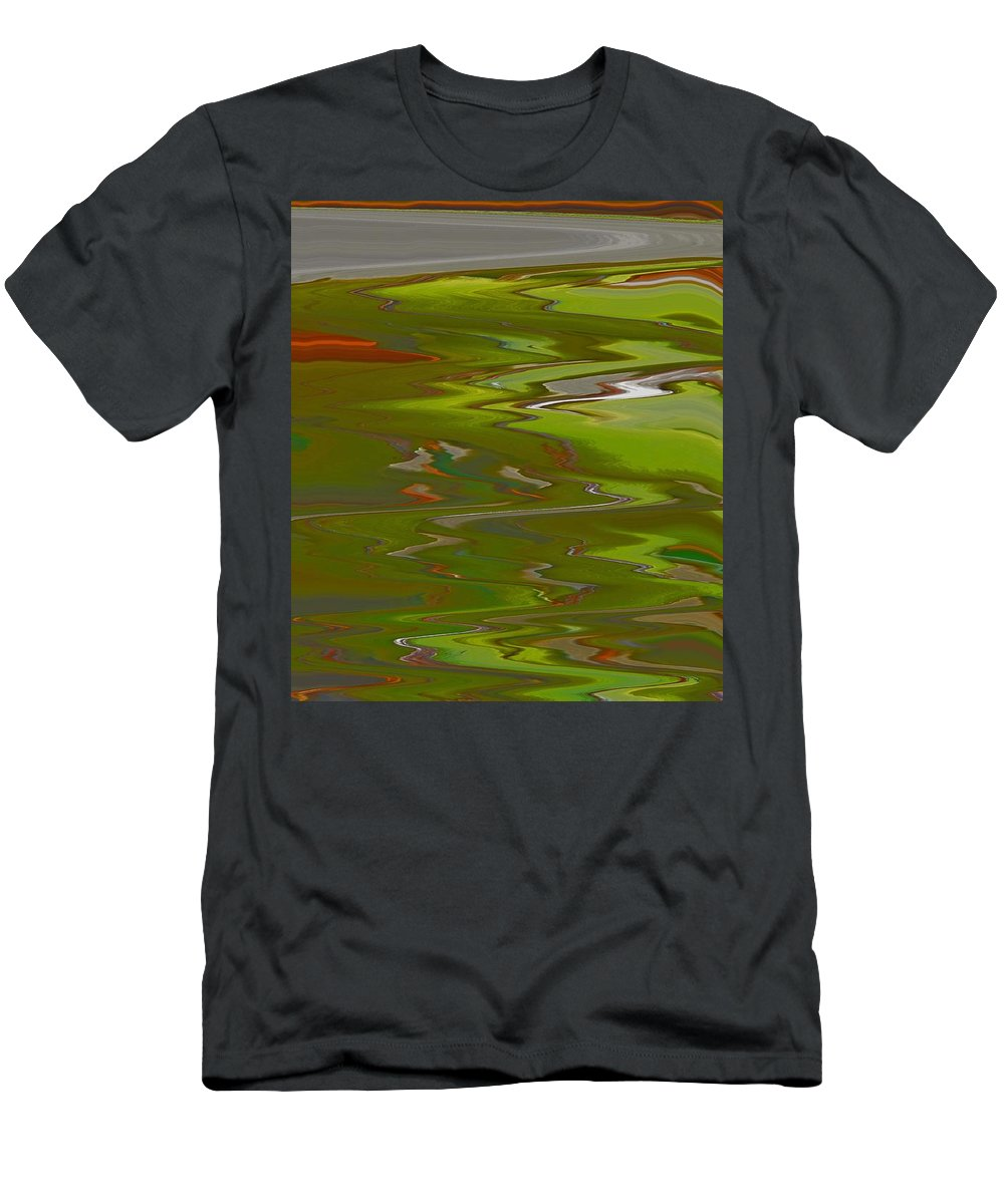 Abstract Men's T-Shirt (Athletic Fit) featuring the digital art Perspective by Lenore Senior