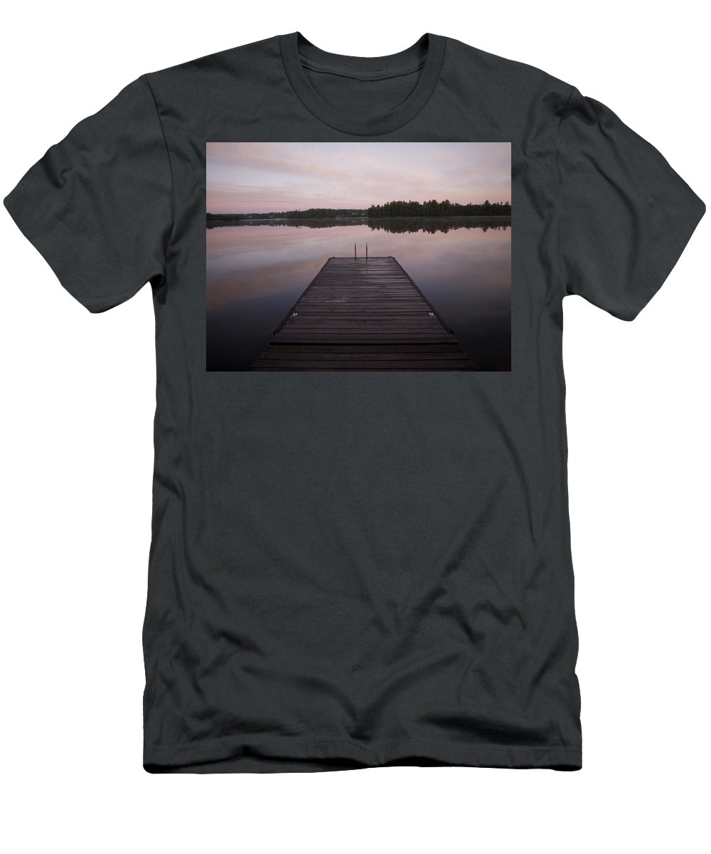 Canada Men's T-Shirt (Athletic Fit) featuring the photograph Pier, Lake Of The Woods, Ontario, Canada by Keith Levit