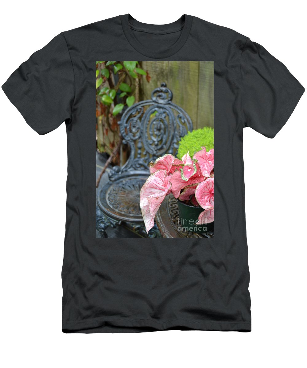 Pink Men's T-Shirt (Athletic Fit) featuring the photograph Pink Leaves by Bonnie Myszka