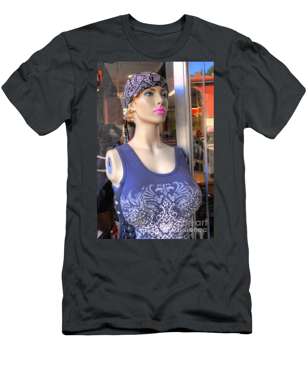 Reflections Men's T-Shirt (Athletic Fit) featuring the photograph Pink Lipstick by Anthony Wilkening