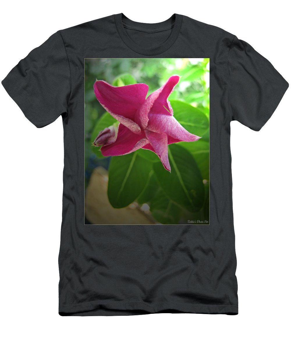 Nature Men's T-Shirt (Athletic Fit) featuring the photograph Pink Star by Debbie Portwood