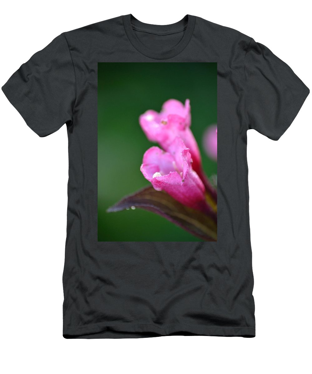 Weigela Men's T-Shirt (Athletic Fit) featuring the photograph Pink Weigela by JD Grimes