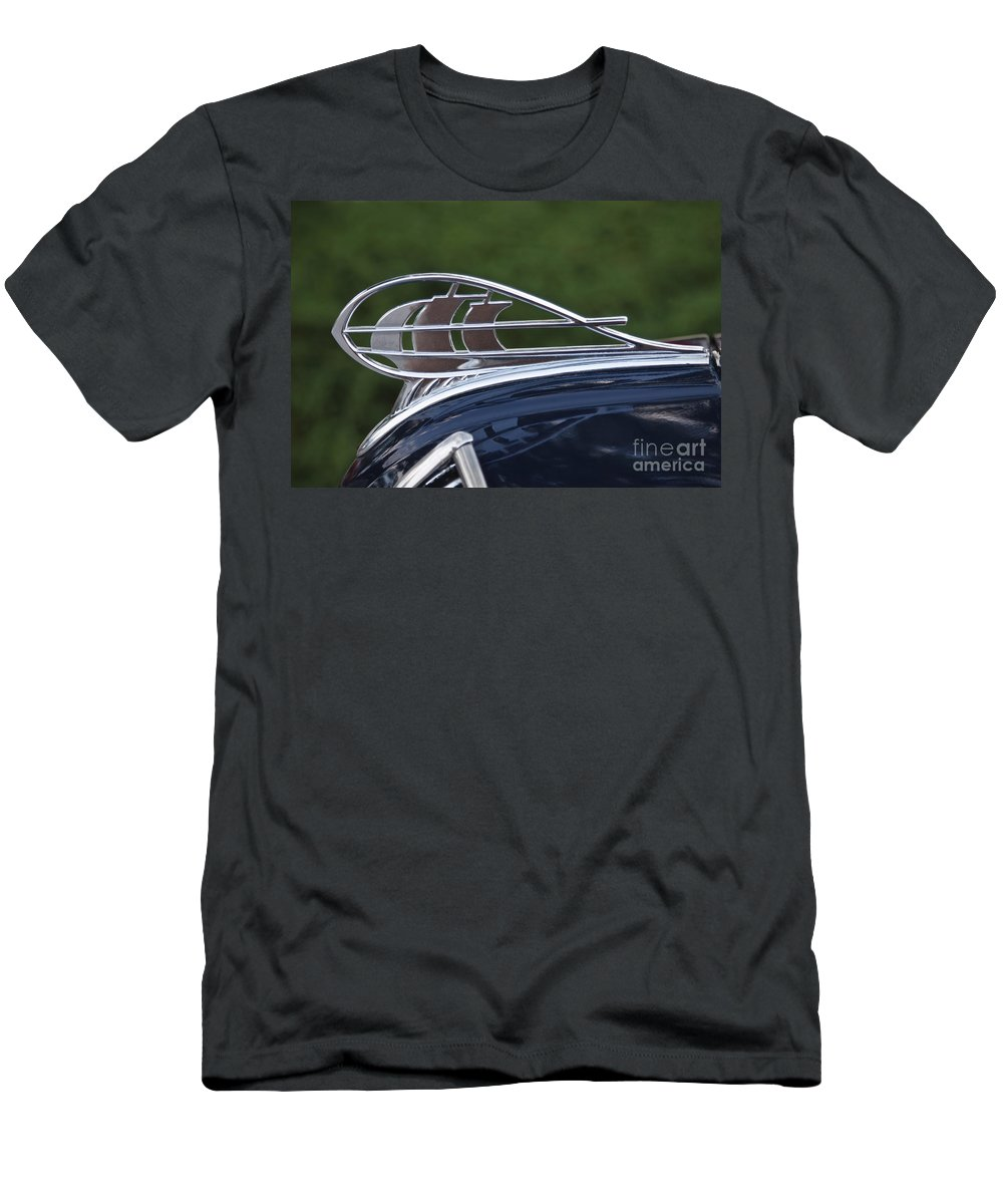 Classic Men's T-Shirt (Athletic Fit) featuring the photograph Plymouth Hood Ornament by Dennis Hedberg