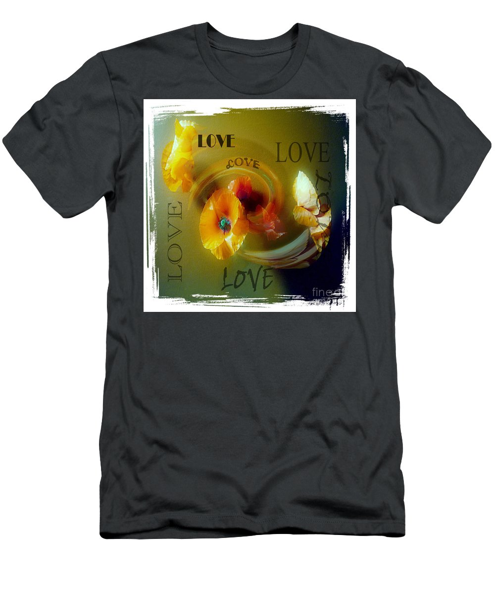 Poppy Men's T-Shirt (Athletic Fit) featuring the photograph Poppy Love by P Donovan