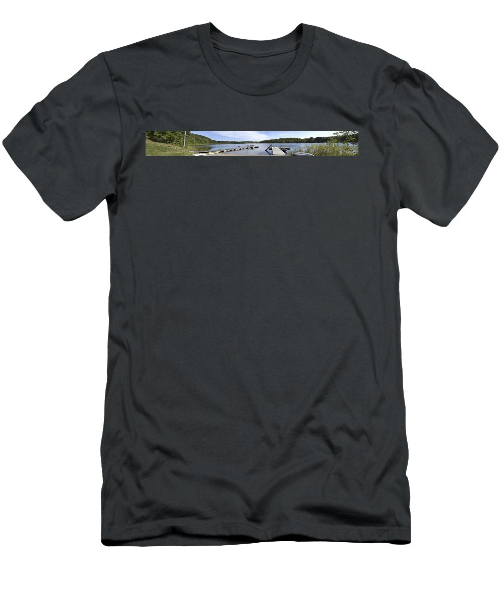 Americas Men's T-Shirt (Athletic Fit) featuring the photograph Portage Lake Panorama by Roderick Bley