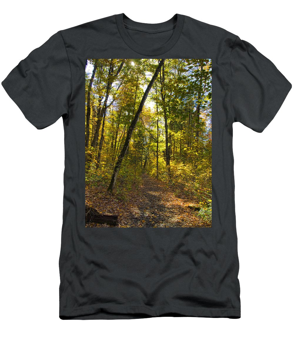 Nature Men's T-Shirt (Athletic Fit) featuring the photograph Portal Through The Woods by Jo-Anne Gazo-McKim