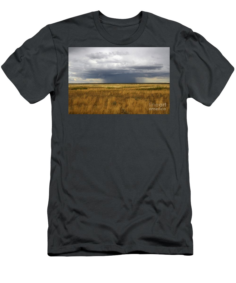 Weather Men's T-Shirt (Athletic Fit) featuring the photograph Prairie Sky by Bob Christopher