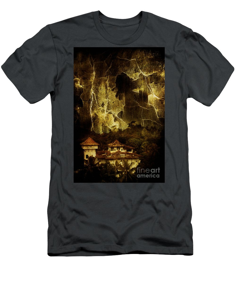 House Men's T-Shirt (Athletic Fit) featuring the photograph Premonitions by Andrew Paranavitana