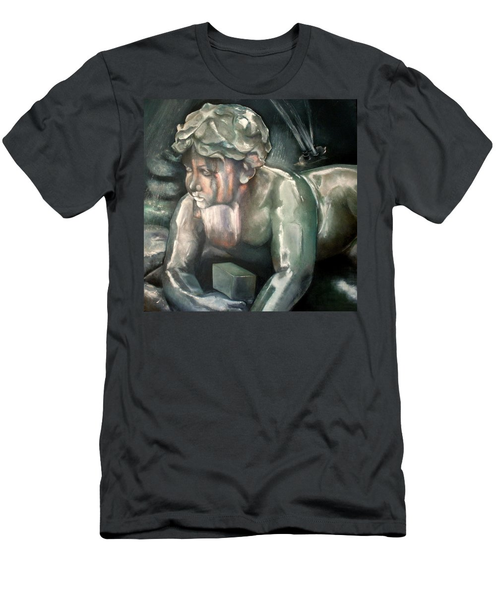 Figure T-Shirt featuring the painting Querubin cantero by Tomas Castano