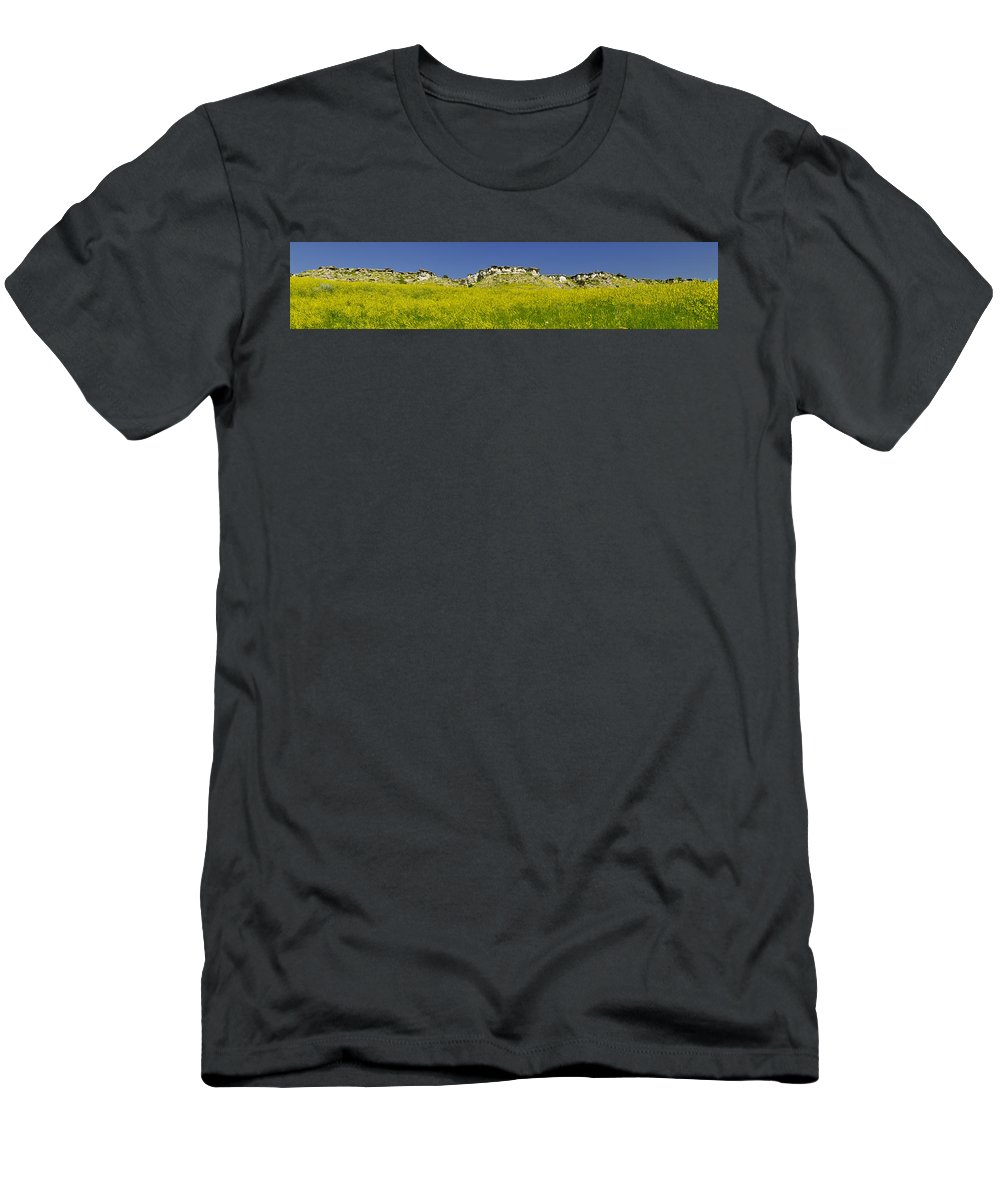 Americas Men's T-Shirt (Athletic Fit) featuring the photograph Ragweed Bluffs by Roderick Bley