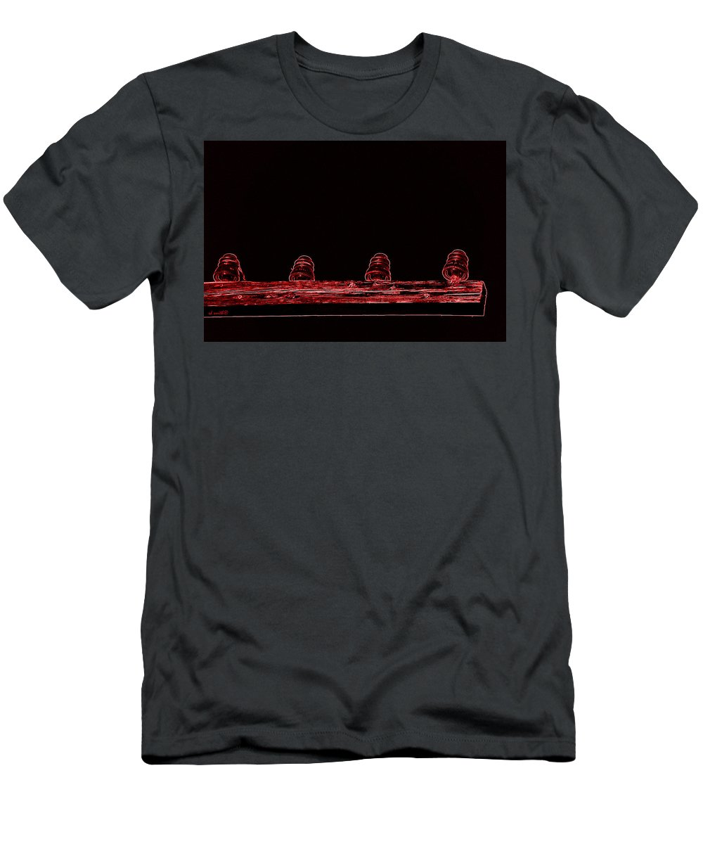 Railroad Relics Men's T-Shirt (Athletic Fit) featuring the photograph Railroad Relics by Ed Smith