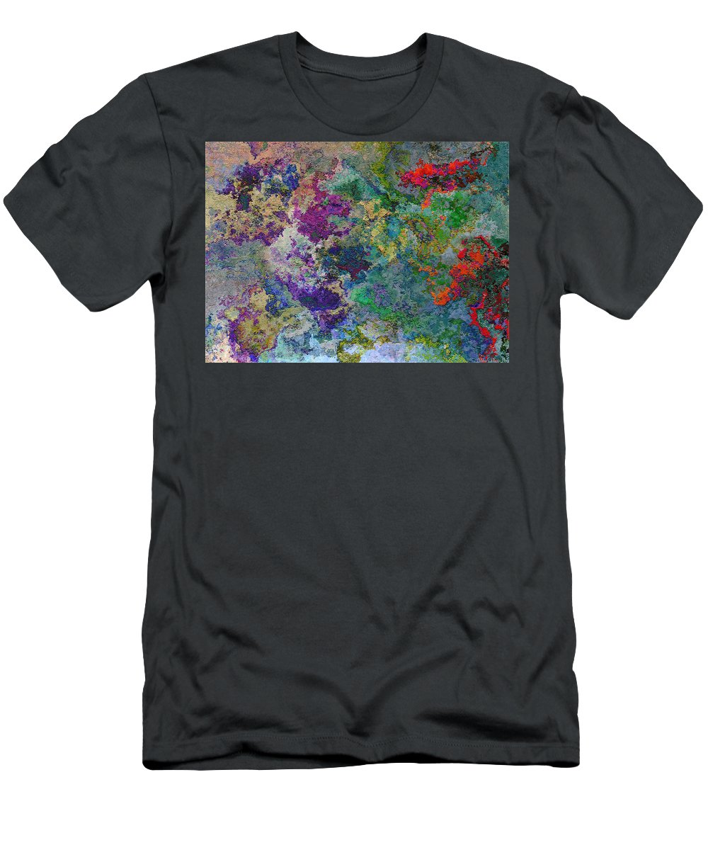 Abstract Men's T-Shirt (Athletic Fit) featuring the digital art Rainbow Fish Watercolor Abstract Art by Debbie Portwood