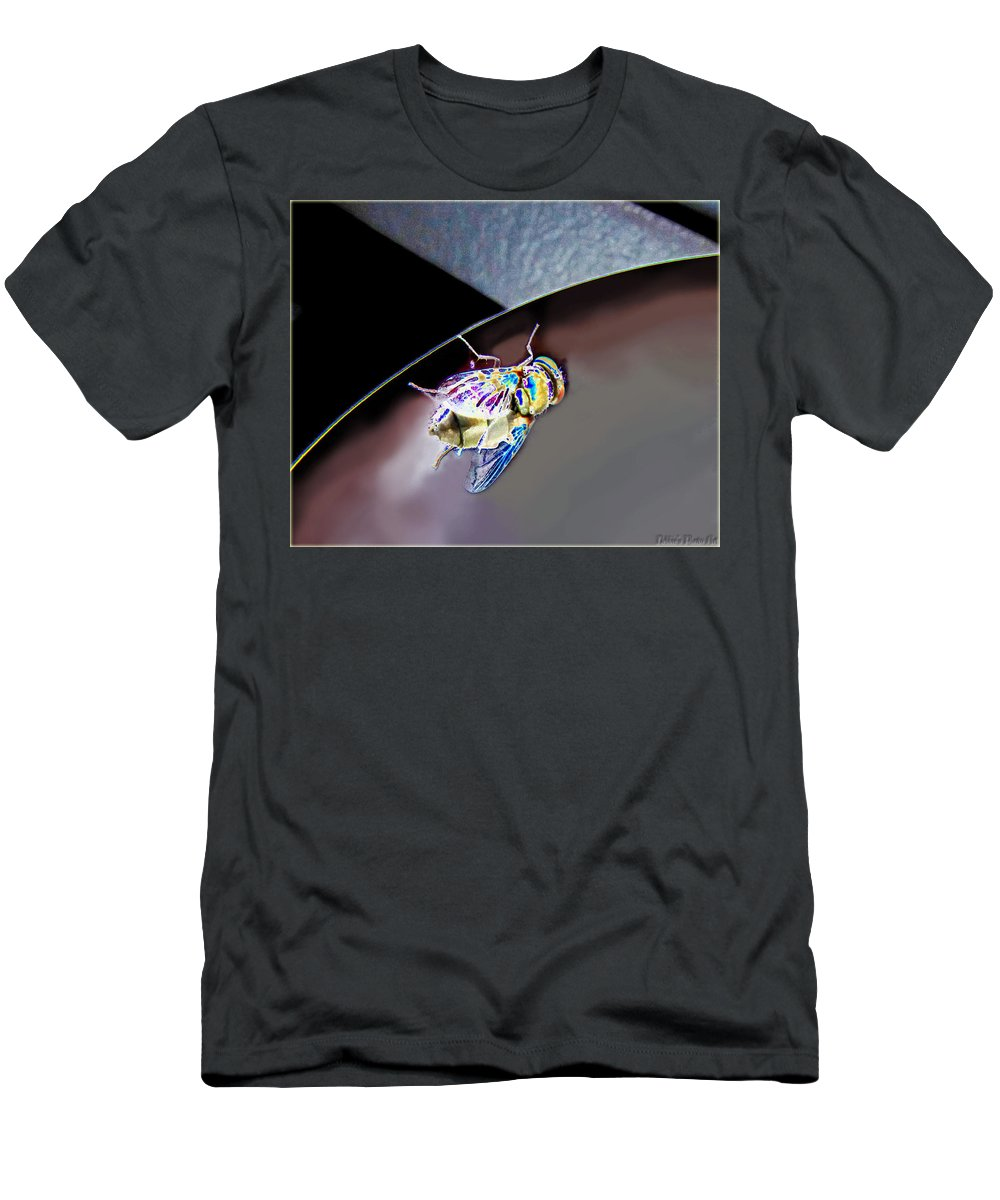 Nature Men's T-Shirt (Athletic Fit) featuring the photograph Rainbow Fly by Debbie Portwood